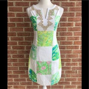 Lilly Pulitzer White Colorful Floral Dress Size 00
